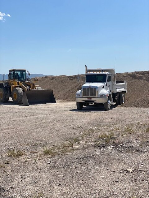 We provide sand and gravel.
